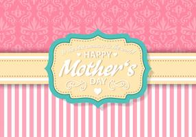 Free Vintage Mother's Day Card Vector