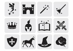 Free Fairy Tale Icons Vector