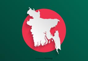 Free Paper Bangladeshn Map Vector