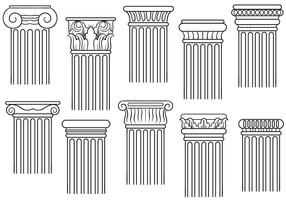 Free Pillars Vectors
