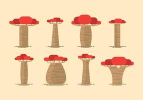 Baobab Flat Vector