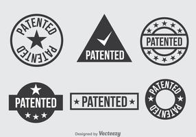 Patent Dark Grey Icons Set