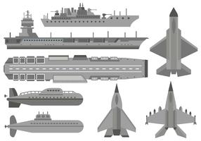 Free Military Aircraft Carrier Vector