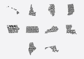 America Word Map Set 2
