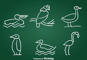 Hand Drawn Birds Vector Set