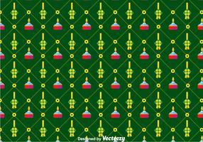 Flat Ketupat Pattern Background