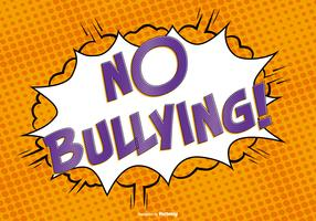 Comic Style No Bullying Illustration