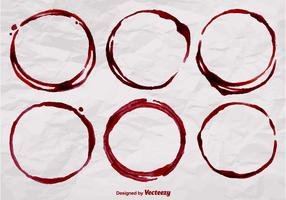 Realistic Wine Stain Vector Shapes