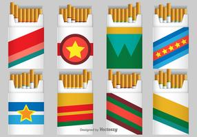 Cigarette Pack Vector Icons