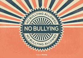 Retro Style No Bullying Illustration
