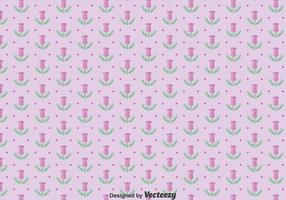 Purple Thistle Flowers Seamless Pattern