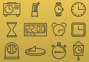 Line Clock Icons
