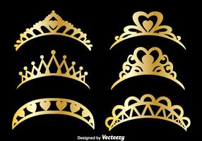 Gold Pageant Vector Set