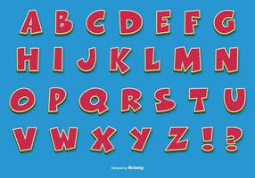 Fun Comic Vector Alphabet