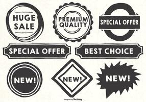 Hand Drawn Style Promotional Labels