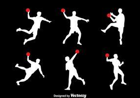 Silhouette Handball Player Vector Set