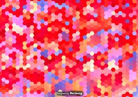 Vector Hexagonal Colorful Pattern