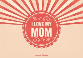 Sunburst Mother's Day Illustration