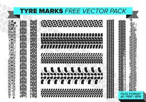 Tire Marks Free Vector Pack