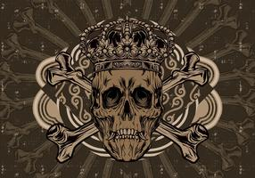 Crown Skull Vector