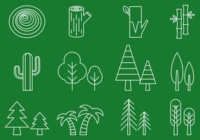 Tree Line Icons