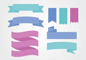 Flat Colorful Ribbon Sash Banner Vectors