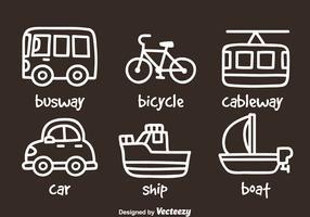 Transportation Hand Draw Icons