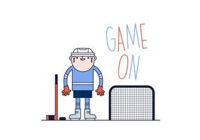 Free Hockey Player Vector
