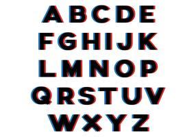 3D Effect Alphabet