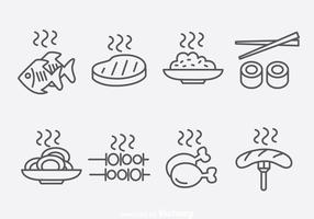 Outline Food Icons Vector