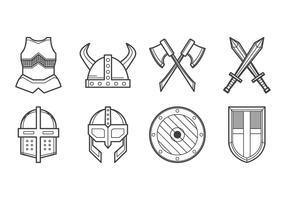 Free Medieval Armor Icon Vector