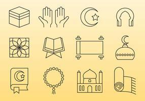 Islamic Line Icons