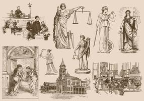 Law And Justice Drawings