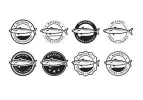 Free Mackerel Vector Badge