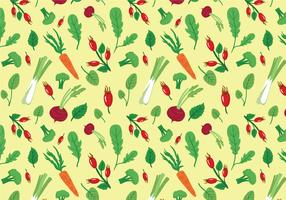 Vegetables & Herbs Pattern Vectors