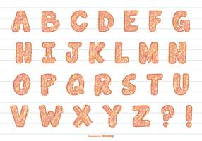 Fun Scribble Vector Alphabet