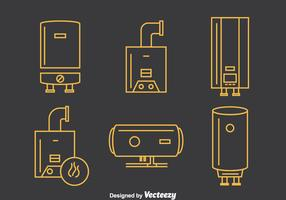 Boiler Line Icons Vector