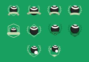 Lawn Bowls Vintage Templates Icon