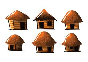 Straw Hut Shack Vector