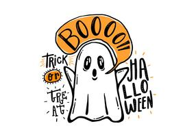 Halloween Hand Drawn Ghost Vector