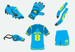 Blue Football Kit Vector
