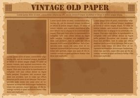 Old Vintage Newspaper