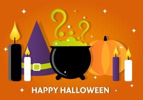 Free Halloween Vector Witch Accessories