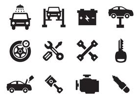 Free Car Maintenance Icons Vector