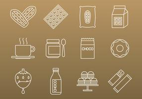 Cocoa And Chocolate Icons