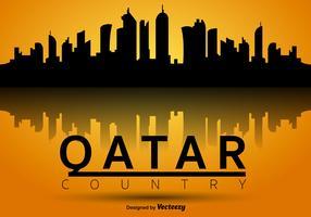 Qatar Vector Silhouette Skyline