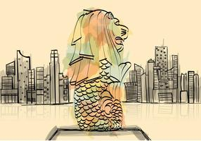 Free Merlion Illustration