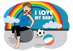 Free Pregnant Mom Illustration