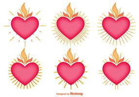 Vector Set Of Sacred Heart Icons