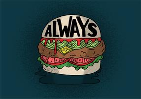 Always Cheeseburger Vector